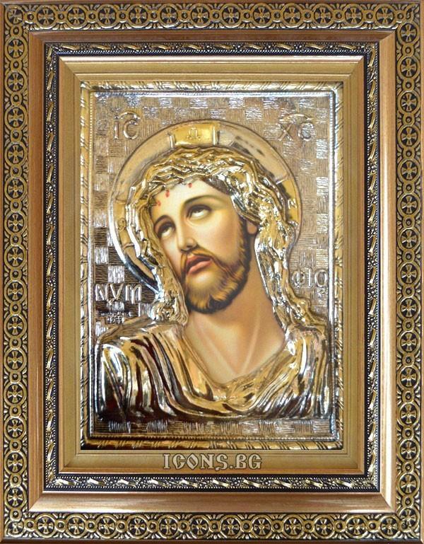 Сребърна икона на Исус Христос