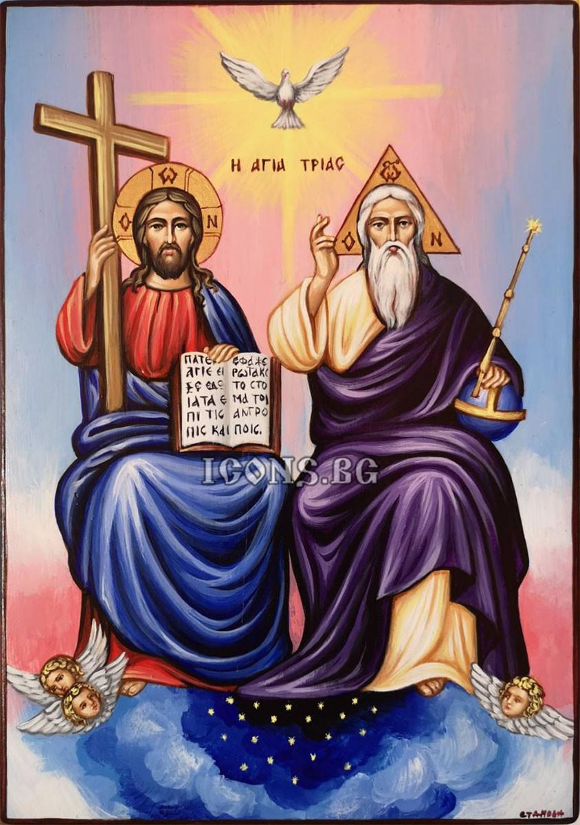 Рисувана икона на Света Троица