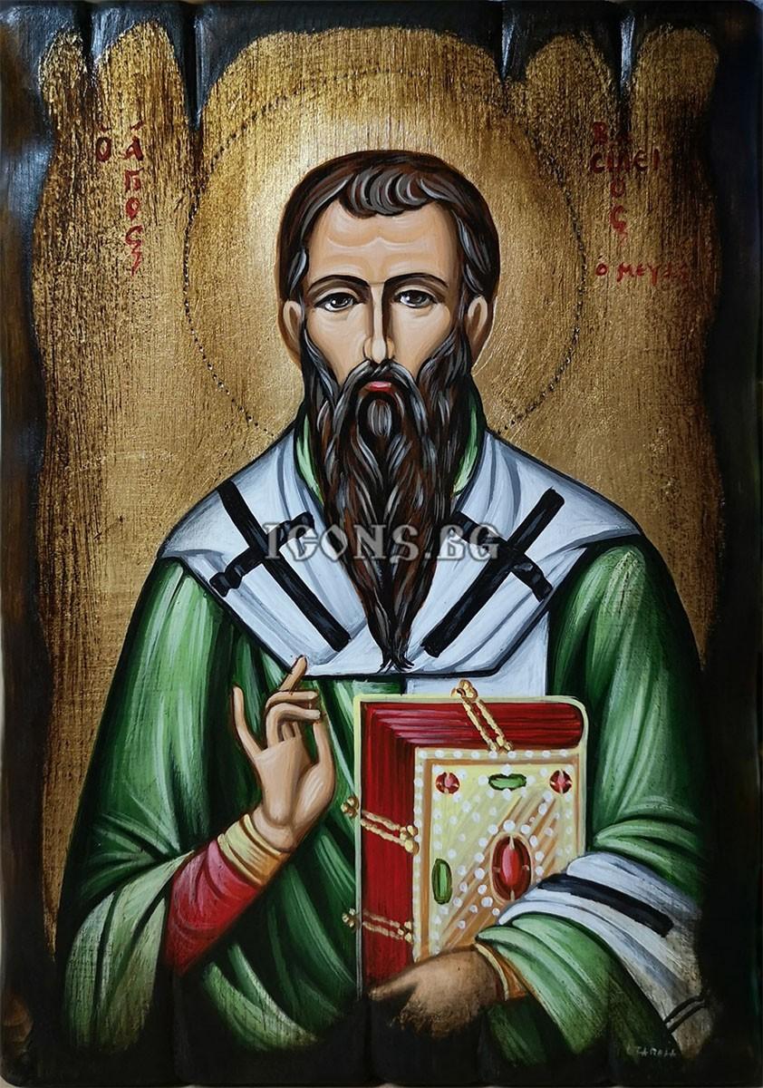 Рисувана икона на Свети Василий