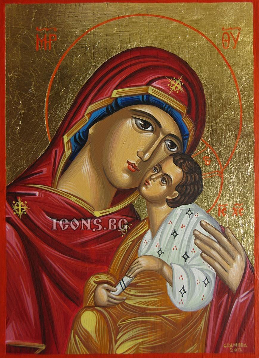 Рисувана икона на Света Богородица Умиление