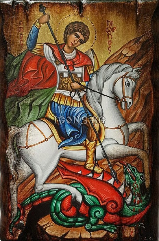 Рисувана икона на Свети Георги
