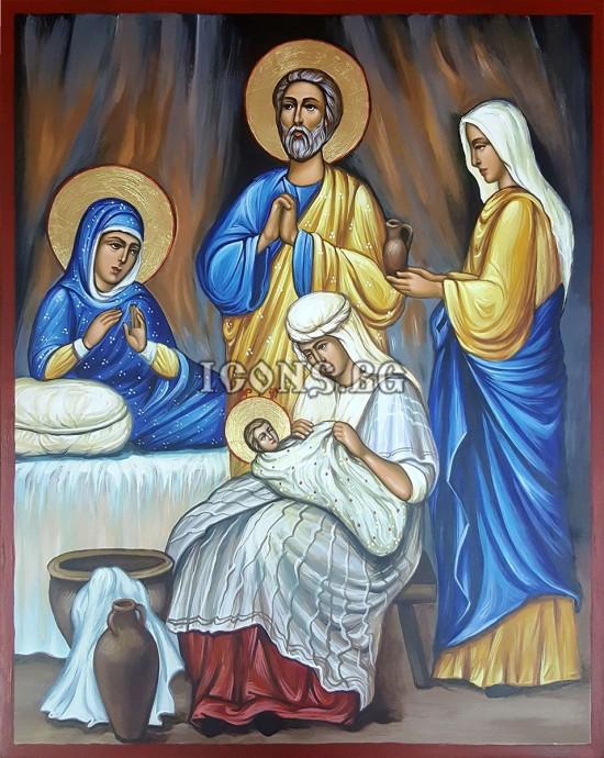 Рисувана икона Рождество...