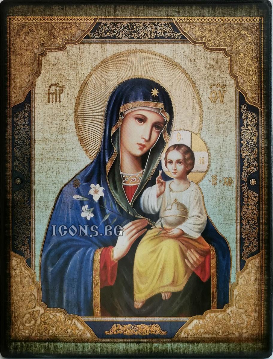 Икона на Света Богородица Неувяхващ Цвят