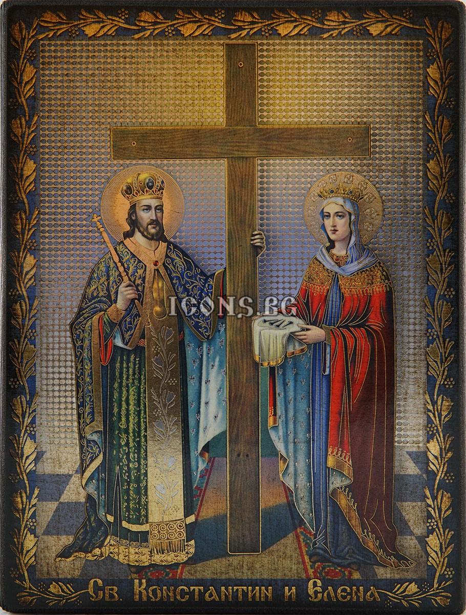 Икона на Св. Константин и Св. Елена